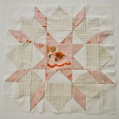 Soft colours♡swoon block with Far Far Away III, a Thimble blossoms quilt pattern Quilting Templates, Quilting Tips, Quilting Projects, Quilting Designs, Sewing Projects, Patchwork Quilting, Quilt Block Patterns, Pattern Blocks, Quilt Blocks