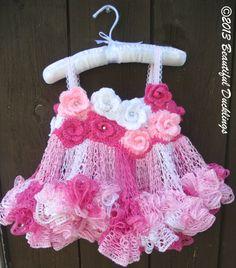 Rose Fairy Tutu Dress  Crochet  PATTERN ONLY by BeautifulDucklings, $5.37