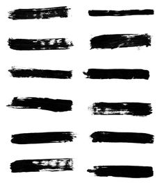 Free High res Paint stroke Photoshop brushes