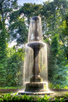 "last night, i dreamed of a fountain... Photo by Till Kresh via Flickr. Column fountain, created 1824 by Martin Friedrich Rabes in the middle of the ""Pfaueninsel"" (Peacock Island) in Berlin, Germany."