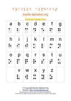 Put small drop of glue over dots and let dry. Children will be able to feel what braille is like. Use for Jesus heals the blind man Le Braille, Braille Tattoo, Braille Alphabet, Alphabet Code, Alphabet Charts, Alfabeto Braille, Sign Language Chart, Jesus Heals, Puff Paint