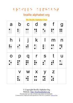 Braille Alphabet Chart