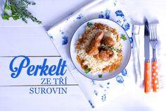 Perkelt   recept + tipy na obměny   cz Stew, Acai Bowl, Oatmeal, Yummy Food, Meat, Chicken, Cooking, Breakfast, Recipes