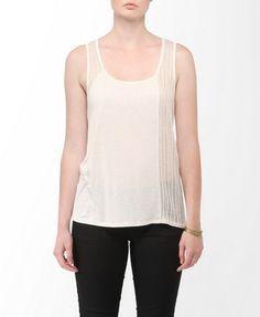 Open Knit Linen-Blend Tank