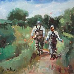 Fishing Date  oil painting   Mary Maxam