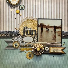 lots of fun details on this layout from Nicole Nowosad / could be altered for a wedding layout
