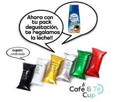 Ahora comprando tu pack degustación de #capsulas de #café para #nespresso , te regalamos la leche.