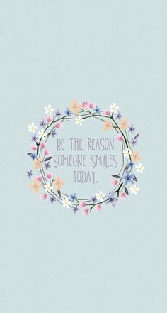 Be the reason... be