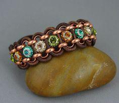 LOVE THIS!! Beachy Boho Leather Bracelet Wrap Cuff Bohemian by UrbanCorner, $70.00