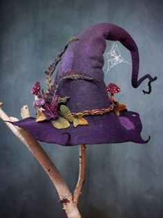 Charmoul-Halloween Custume Women Clothing Near me,The Biggest&Best Selection of Halloween Costumes Dress/Coats The 2019 Newest Women Clothing Online Shop Felt Witch Hat, Felt Hat, Witch Hats, Diy Witch Hat, Holidays Halloween, Halloween Crafts, Halloween Costumes, Purple Halloween, Witch Costumes