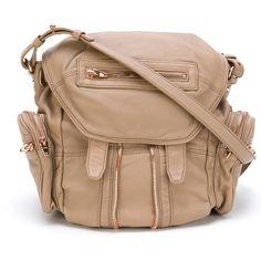 Alexander Wang Mrti Backpack ($1,201) ❤ liked on Polyvore featuring bags, backpacks, rucksack bag, backpack bag, alexander wang backpack, beige bag and hardware bag