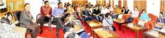Chief Minister Mehbooba Mufti interacting with young entrepreneurs in Srinagar on Tuesday.