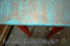 metallic foils, fabulous finishes paint studio, chalk clay mineral paint, american paint company, caromal colours, reclaim, painted furniture, workshops, metro detroit, michigan, shop.fabfinisher.com