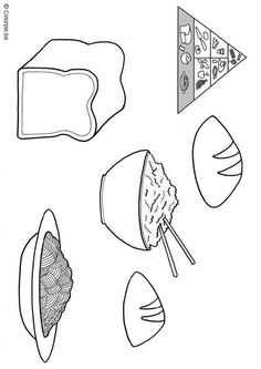 Coloring page grain products - coloring picture grain products. Free coloring sheets to print and download. Images for schools and education - teaching materials. Img 5674.