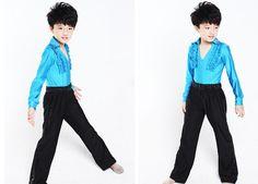 Traje de la danza boy 3 colores 4 tamaño malla de baile latino top + pantalón desgaste del funcionamiento A 028 los niños bailan la ropa en Latino de Novedad y de uso especial en AliExpress.com | Alibaba Group
