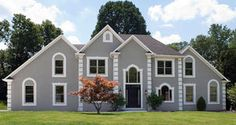 Newly Constructed Luxury Home Stock Photos