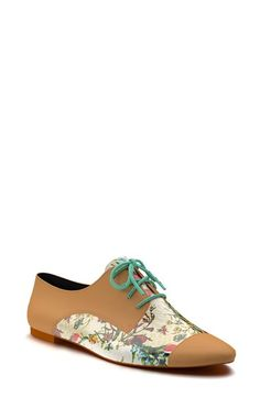 Shoes+of+Prey+Floral+Print+Leather+Oxford+(Women)+available+at+#Nordstrom