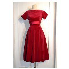 Vintage 1950's Fuschia Party Dress // Fuschia by villavillavintage