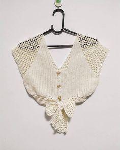 Tops Tejidos A Crochet, Gilet Crochet, Crochet Tank Tops, Crochet Summer Tops, Crochet Shirt, Cotton Crochet, Crochet Lace, Crochet Bikini, Diy Crafts Crochet