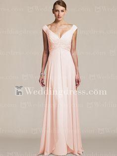 Elegant Chiffon V-Neck Wedding Guest Dress MO005