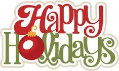 Happy Holidays SVG scrapbook title christmas svg scrapbook title free svg cuts ($.50 on MissKate Cuttables)