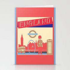 LONDON Stationery Cards by famenxt - $12.00