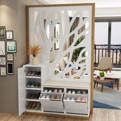 Living Room Partition Design, Living Room Divider, Living Room Tv Unit Designs, Room Partition Designs, Ceiling Design Living Room, Home Room Design, Home Interior Design, Living Room Decor, Home Entrance Decor