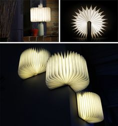 Pretty, portable and perfect for book-lovers, this lovely source of illumination can be folded from flat to a 360-degree cylinder for various lighting demands.