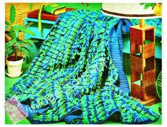🌊 1970 Jóia Afegão Crochê Clássica -  /  🌊 1970s Jewel Afghan Vintage Crochet Hooks -