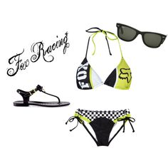 must haaave this Fox Racing swimsuit! Country Outfits, Country Girls, Rihanna, Fox Racing Clothing, Fox Bikini, Desire Clothing, Racing Swimsuits, Bow Flip Flops, Cool Outfits