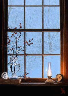 Fenêtre sur neige...