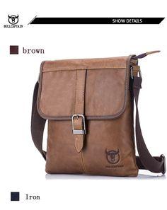 ee22483fee BULL CAPTAIN 2017 Men Bag Genuine Leather Man New Crossbody Shoulder Bag Men  Small Business Bags Male Messenger Leather Bags 034