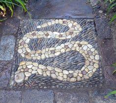 """SNAKE (square)  61 x 61 cm (24"""" x 24"""")"""