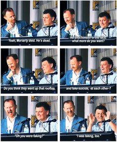 """You were faking? I was faking too!"" <-- Rule #1, Moffat lies!"