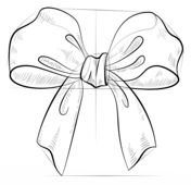 How to draw a bow Drawing tutorial