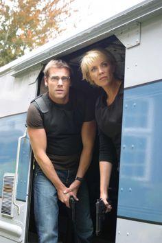 Michael Shanks and Amanda Tapping