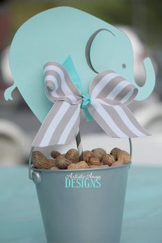 Elephant Centerpiece Toppers - Elephant Baby Shower or Birthday - Turquoise and . - Elephant Centerpiece Toppers – Elephant Baby Shower or Birthday – Turquoise and … – Fantas - Elephant Baby Shower Centerpieces, Baby Shower Favors, Baby Shower Parties, Baby Shower Themes, Baby Boy Shower, Shower Ideas, Babyshower Centerpieces For Boys, Baby Theme, Table Centerpieces