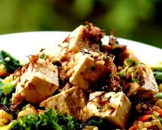 Over The Top Tofu Poke - This Over the Top Tofu Poke is a take on a local favorite made popular by a long standing Waikiki Restaurant. The addition of some island ingredients make this version extra special. You will wow your guests with this one.  Get this recipe by clicking on the link below: http://ow.ly/AQI7301pmEu