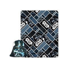 Star Wars 2-piece Big Mask Darth Vader Pillow & Throw Set, Multicolor
