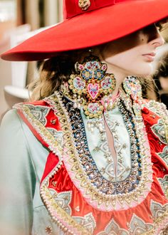 Treasure Trove: Elaborate hairbands embroidered with glittery crystals, multi-finger rings of spiked black pearls with chains and beaded earrings in the form of a peacock—Victorian-inspired new jewelry designs shimmer and shine.