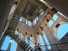 stairs at the Diocletian's Palace Bell Tower, Split, Croatia