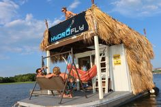 Enjoy a relaxing day in the Charleston, SC sun on one of Hydrofly Watersports' Tiki Huts. Kayak Tours, Tiki Hut, Fishing Charters, Boat Rental, Relaxing Day, Pontoon Boat, Jet Ski, Wakeboarding, Paddle Boarding