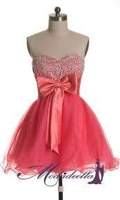 vestidos de noche cortos 2013 juveniles color coral - Buscar con Google