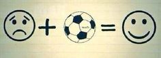 Gdy jest smutno piłka nożna zawsze poprawi humor • Smutek plus piłka równa się uśmiech na ustach • Wejdź i zobacz wesołe zdjęcie >>