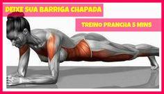 DEIXE SUA BARRIGA CHAPADA | TREINO PRANCHA 5 MINUTOS