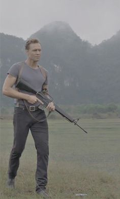 Tom Hiddleston in Kong: Skull Island!<< I need to watch that Film now pin now watch later