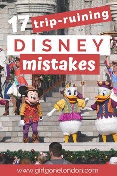 17 Trip Ruining Disney World Mistakes - Away we go! Canada Travel, Travel Usa, Travel Tips, Travel Hacks, Budget Travel, Travel Guides, Travel Destinations, Disney Vacations, Disney Trips