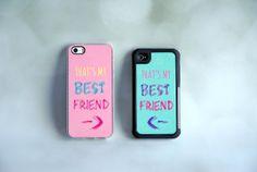 Matching Best Friend iPhone Cases + Best Friend Phone Covers on Etsy, Best Friend Cases, Bff Cases, Friends Phone Case, My Best Friend, Best Friends, Cool Iphone Cases, Cool Cases, Cute Phone Cases, Minnie Mouse