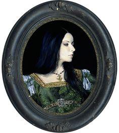 "Reine de la mer ""Portraits"" acrylic on gesso board, 2014 8 x 10 inches, 20.3 x 25.4 cm"