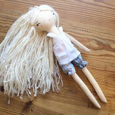 So, it's spring, and even dolls need shorts?? #mushroomparasols #handmadedoll #clothdoll #kidsdecor #handmade #blonddoll